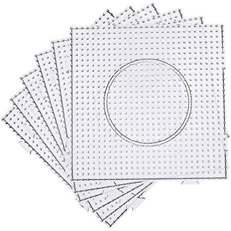 4 Lroning Paper 2 Forceps 1 Circle Board H/&W 6PCS 5mm Fuse Beads Boards 1 Rhomb Board Large Clear Pegboards Kits WA3-Z5 4 Square Board