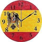 Reloj de Pared Redondo Bandera española Reloj Personalizado para decoración del hogar Creativo