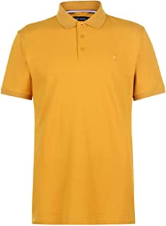 Official Brand Kangol Brit Fit Polo Shirt Mens Mustard Collared Top Tee Large