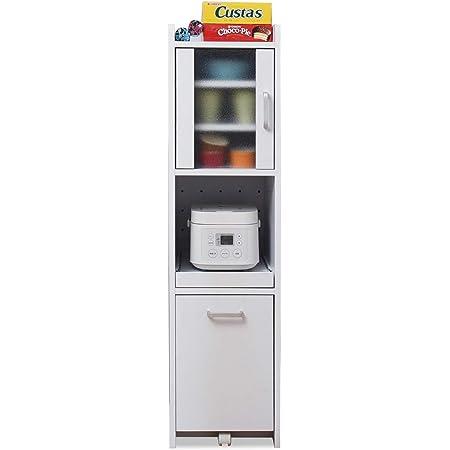 JKプラン すきま 隙間収納 キッチン ミニ 食器棚 家電収納棚 キッチン家電収納 スリム 収納 幅 32.5 高さ 124 ホワイト TSFKC0645WH