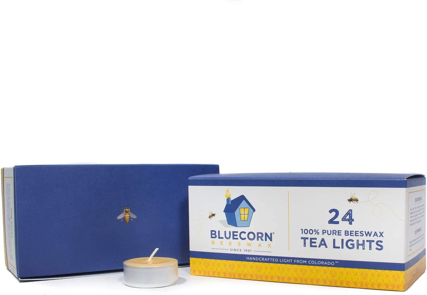 Bluecorn Beeswax 100% Pure Finally resale start Tea Raw Special price for a limited time - Lights Cups Metal
