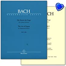 El arte de la Fuga BWV 1080–Johann Sebastian Bach–Urtext salida con Bunter herzförmiger–Partituras Verlag oso Jinete ba52079790006503674