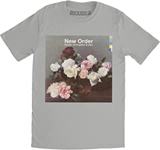 New Order Power, Corruption & Lies Fitted Jersey tee (Medium) Silver