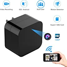 New Hidden Spy WiFi Wireless Camera, USB Wall Charger Camera Mini Cam HD 1080P Home Security Nanny/Baby Monitor Camera with WiFi Remote View, Motion Detection