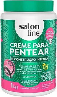 Salon Line Creme Para Pentear Redutor de Volume Reconstrução Intensa, Branco