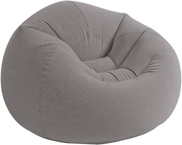 Intex 充气 Beanless 袋充气椅 42X41X27 灰色