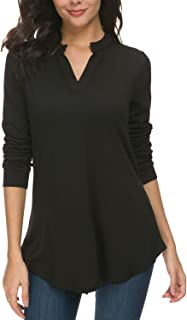 Womens Tunic Top, Women Casual Short and Long Sleeve V Neck High Low Blouse Shirt Tops
