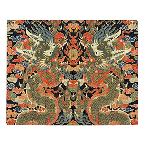 CICIDI chinese asian dragon colorful embroidery creature jigsaw puzzle 1000 Pieces for Adults, Entertainment DIY Toys for Creative Gift Home Decor