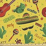Lunarable Mexikanischer Stoff von The Yard, Fiesta Party