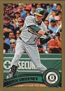 2011 Topps Gold #493 Ryan Sweeney Oakland Athletics MLB Baseball Card /2011 NM-MT