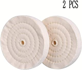 Thick Buffing Polishing Wheels 6-inch for Drill and bench grinder with 1/2