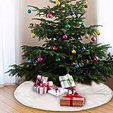 90cm Weihnachtsbaumdecke Weihnachtsdeko Weihnachtsbaum Rock Weiß Plüsch Weihnachtsbaum Decke Weihnachtsbaum Deko - 6
