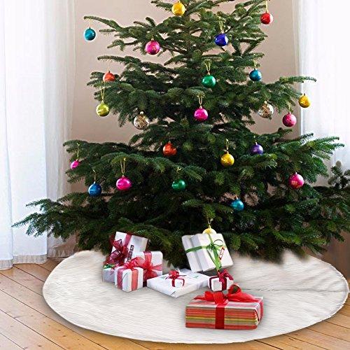New_Soul Weihnachtsbaumrock aus Kunstfell, weiß, 122 cm