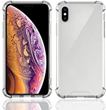 iPhone X/Xs Case, (2 Pack) Hard Plastic Back Plate and Soft TPU Gel Bumper, Shockproof Phone Protective Cover Cases, Duty Anti-Knock Shockproof Transparent Air Cushion Acrylic Back Cover (Clear)