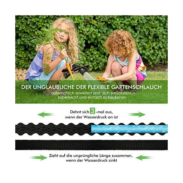 Manguera de Jardín Extensible 15 Metros Manguera Extensible de Agua, Regar Manguera, Manguera de Jardín Flexible…