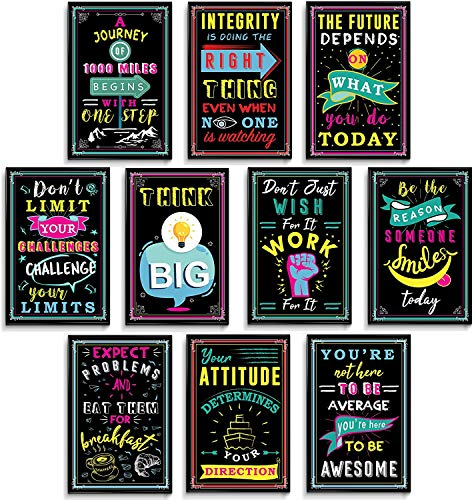 Motivational Poster, Inspirational Posters, Teacher Posters, Motivational Posters For Office, Inspirational Posters For Classroom, Positive Posters For Classroom, Set Of 10 Prints 11x17 In.