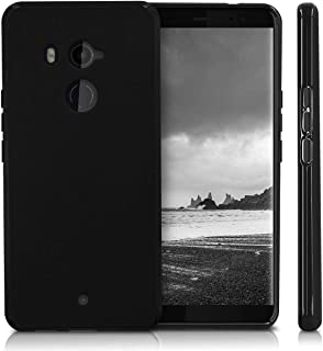 For HTC U11 Plus U11+ Slim Soft TPU Back Cover Case Black bY muzz