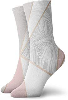 Crew Socks Wallpaper Rose Gold Marble Athletic Socks Stylish Anti Bacterial Odor Cushion Short Boot Stocking