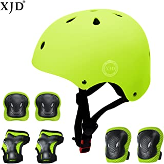 XJD Helmets for Kids 3-8 Years Kids Helmet Sports Protective Gear Set Boys Girls Adjustable Toddler Helmet Knee Elbow Pads Wrist Guards Bicycle BMX Skateboard Bike Helmets from Toddler to Youth