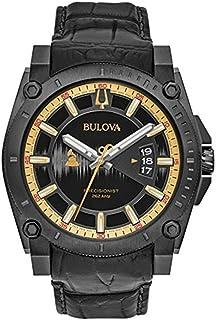 [ブローバ] Bulova 腕時計 Men's 'Grammy' Quartz Stainless Steel and Leather Casual Watch, Color:Black アナログ クォーツ 98B293 メンズ 【並行輸入品】