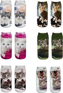 702ffba6e7bbb Fou chaussettes 3D femmes fille drôle animaux mignons court cheville