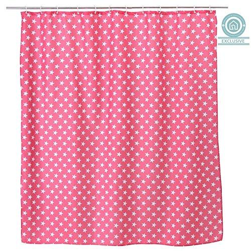 cortinas rosas para baño