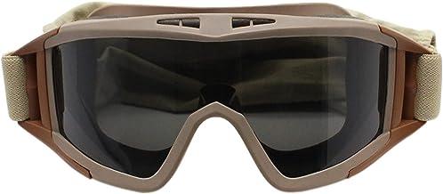 QSCTYG Goggles Bril Zwart 3 Lens Motorfiets Winddicht Goggles motorbril 722