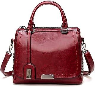 Fanspack Handbag Satchel Bag All-Match Shoulde Retro Rivet Crossbody Purse Messenger Bag