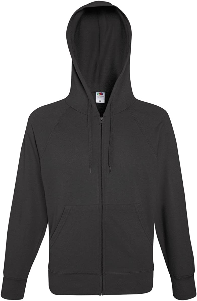 Fruit of the Loom Mens Lightweight Full Zip Jacket/Hoodie (M) (Light Graphite)