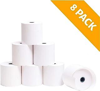 OFITURIA ® 8 Rollos Papel Térmico 80x80x12 mm para Sumadora Impresora TPV, Sin Bisphenol A