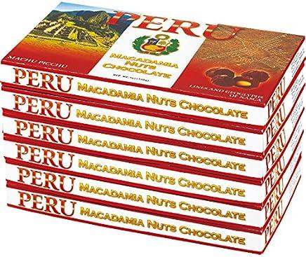 ペルー 土産 ペルー マカデミアナッツチョコレート 6箱セット (海外旅行 ペルー お土産)