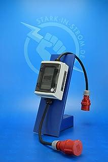 Digital Stromzähler Adapter - Geeicht - 400V / 16A CEE-Stecker auf 16A CEE Kupplung/Wattmeter/Energiezähler/Zwischenzähler/MID-Adapter/Starkstromzähler IP55. Qualität -Made in Germany-