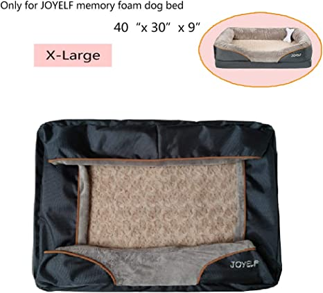 Amazon Com Joyelf Medium Memory Foam Dog Bed Replacement Cover For 31 X 22 Pet Supplies