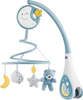 Chicco Next2Dreams Babybett Mobile mit Licht und Musik - 3 in 1 Baby Mobile Kompatibel mit Next2Me Babybett, mit Soundeffekten, Nachtlichtprojektor und Klassischer Musik - 0 Monate, Blau