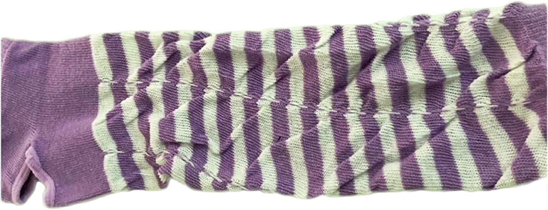 CHHNGPON Ladies Gloves Lady Thin Fingerless Elbow-Length Dot Stripe Gloves Mittens Cute Lovely Girl Jk Glove 2020 Fashion Orange Purple Orange (Color : Purple, Gloves Size : One Size)