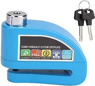 Suuonee Disc Brake Lock, Universal Motorcycle Scooter Bicycle Anti-theft 6mm Disc Brake Lock Security Alarm Blue