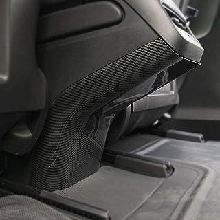 aspeike Rear Air Conditioner Vent Outlet Anti Kick Trim Cover for Tesla Model 3 Interior Decoration Carbon Fiber Printing