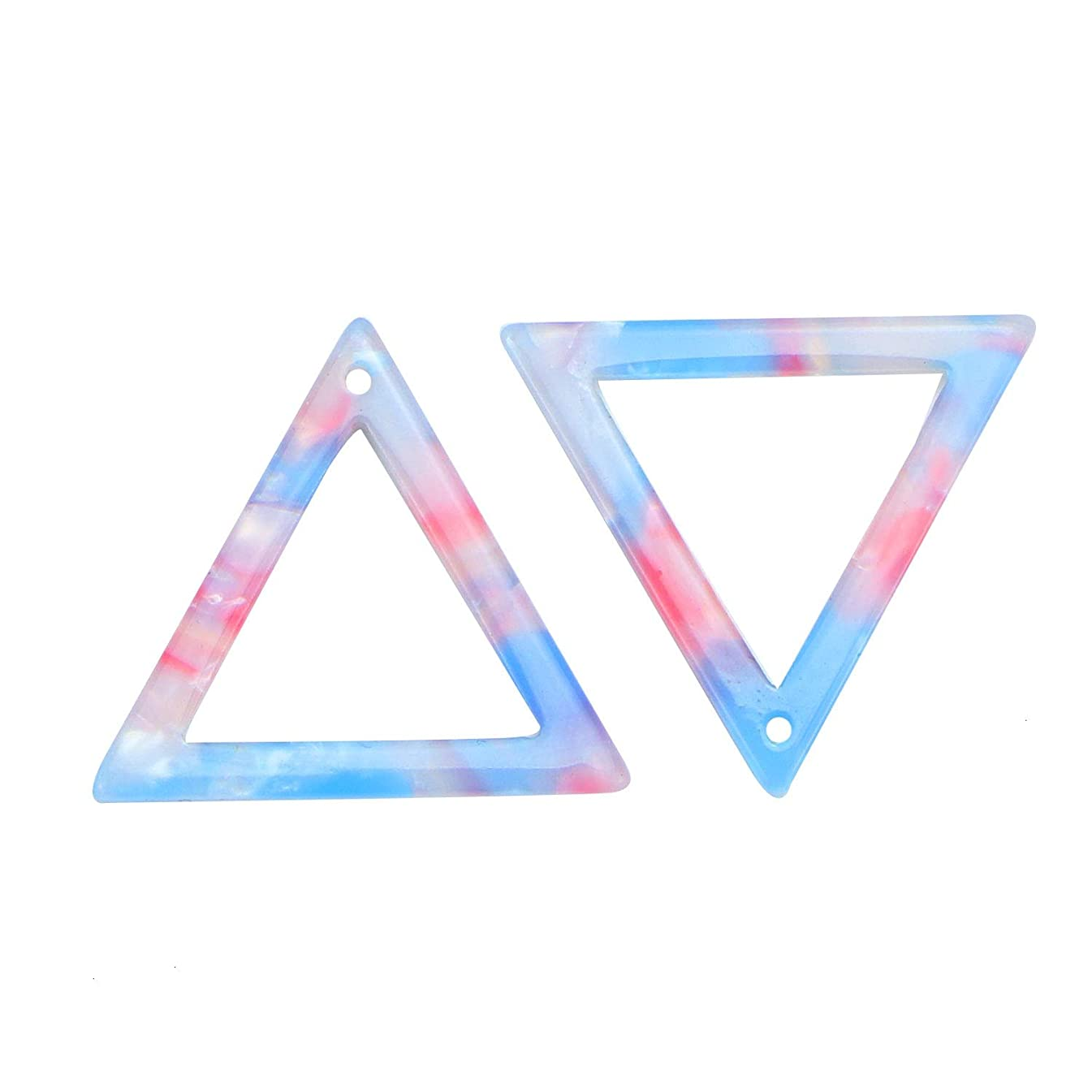 Monrocco 10PCS Acetate Acrylic Triangle Pendant Triangle Hollow Out Charm Pendant DIY Jewelry Making for Necklaces Bracelets Earring