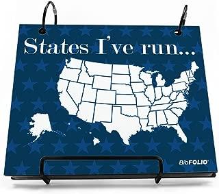 Gone For a Run BibFOLIO Race Bib Album | Bib Holder Running The USA Map Dry Erase