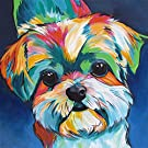 SYNHOK Paint by Numbers for Kids Adults Beginners, DIY Acrylic Painting Kit,Creative Gifts for Home Decoration -Cute Dog(16x20Inch) (Without Frame)