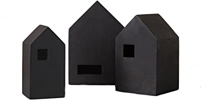 Wood Nesting House Set of 3 Hearth & Hand with Magnolia Black