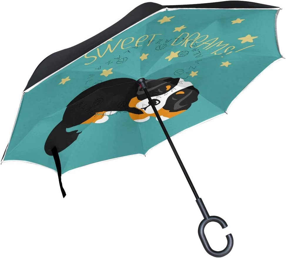 Wamika Cute Factory outlet Funny Puppy Dog Umbrella Ranking TOP1 Inverted D Reverse