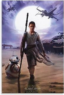 GTDF Star Wars Rey Posters (2) Poster décoratif sur toile pour salon, chambre à coucher 50 x 75 cm