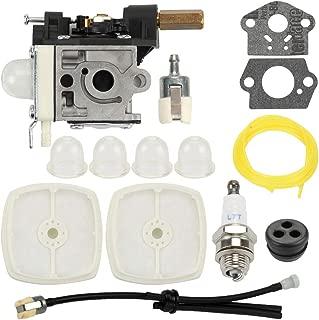 Buckbock SRM 210 Carburetor for Echo Weedeater SRM210 SRM211 GT200 GT201 PE200 PE201 SRM210U SRM210SB SRM211U HC150 HC151 SHC210 SHC211 Trimmer Parts RB-K75 + Air Filter Repower Kit