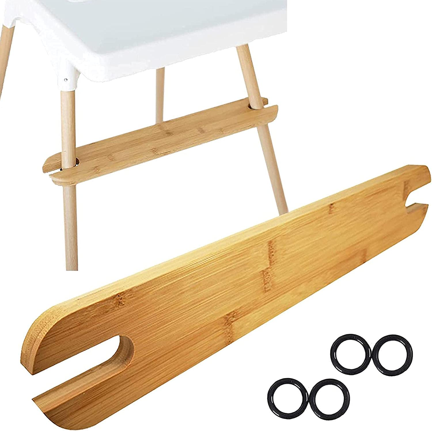 Glum High Chair Footrest - Non-Slip Wo Portland Mall Natural gift Bamboo Adjustable