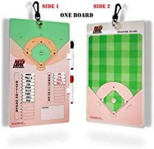 Next Level Sports Coaching Board   Strategy Dry Erase Magnetic Clipboard for Baseball & Softball Coaches   Includes Magnetic Dry Erase Tabs, Markers, Swivel Hook & Eraser   Coach Accessories