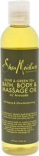 SheaMoisture Olive/Green Tea Bath, Body & Massage Oil, 8 Ounce