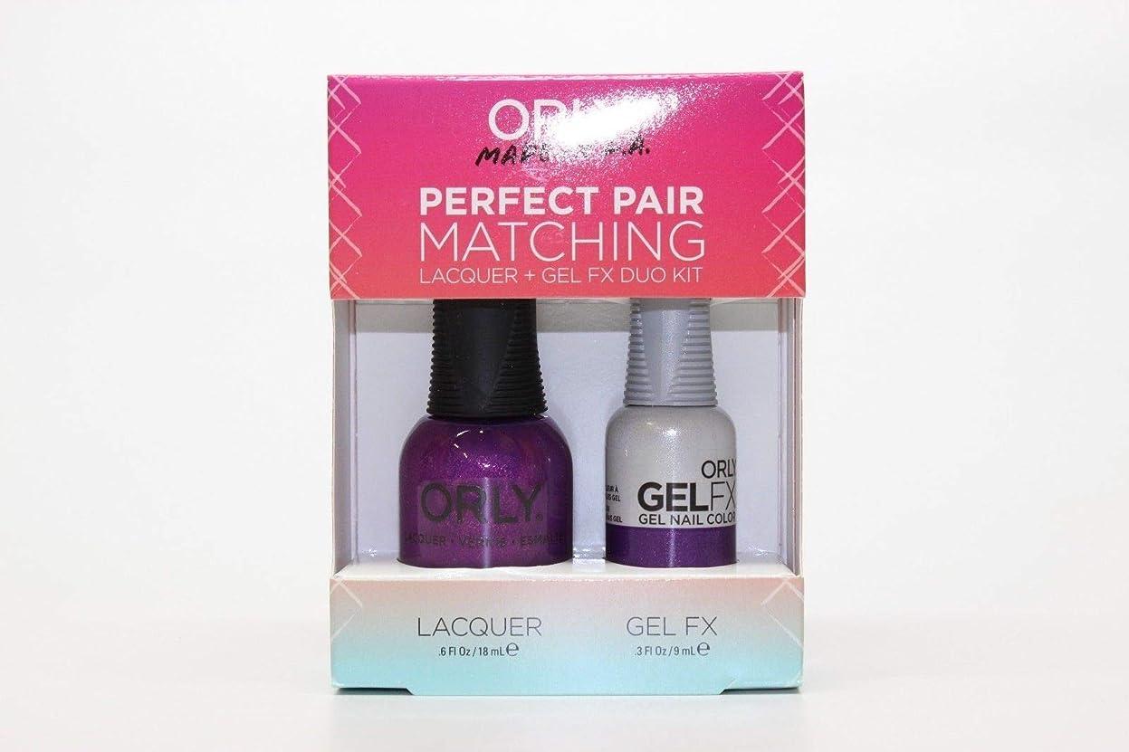 コピーミュートワイヤーOrly - Perfect Pair Matching Lacquer+Gel FX Kit - Celebrity Spotting - 0.6 oz / 0.3 oz