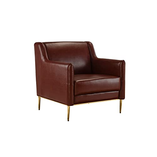 Brown Leather Accent Chairs: Amazon.com