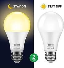 Govee Dusk to Dawn Light Bulb, 9W (70 Watt Equivalent) 800lm Light Sensor Led Bulbs, Smart Automatic On/Off, Indoor/Outdoor Lighting Bulb for Porch, Hallway, Patio, Garage 2 Packs (Warm White E26/E27)